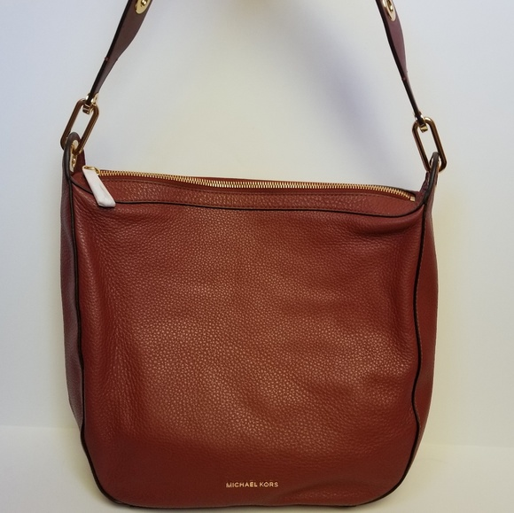 8ec43b1a5277 Michael Kors Bags | New Raven Brick Red Leather Purse | Poshmark